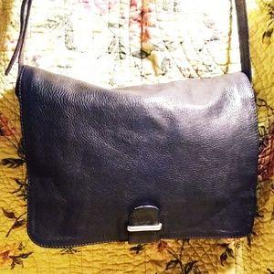Kenneth Cole Leather Messenger Handbag